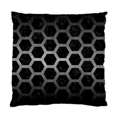 Hexagon2 Black Marble & Gray Metal 1 Standard Cushion Case (two Sides) by trendistuff