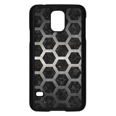 Hexagon2 Black Marble & Gray Metal 1 Samsung Galaxy S5 Case (black) by trendistuff