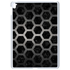 Hexagon2 Black Marble & Gray Metal 1 Apple Ipad Pro 9 7   White Seamless Case by trendistuff
