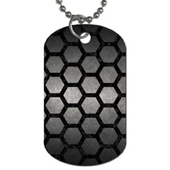Hexagon2 Black Marble & Gray Metal 1 (r) Dog Tag (two Sides) by trendistuff