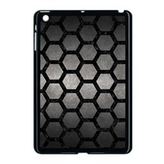 Hexagon2 Black Marble & Gray Metal 1 (r) Apple Ipad Mini Case (black) by trendistuff