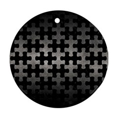 Puzzle1 Black Marble & Gray Metal 1 Ornament (round) by trendistuff