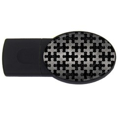 Puzzle1 Black Marble & Gray Metal 1 Usb Flash Drive Oval (2 Gb) by trendistuff