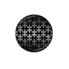 Puzzle1 Black Marble & Gray Metal 1 Hat Clip Ball Marker (10 Pack) by trendistuff