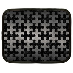 Puzzle1 Black Marble & Gray Metal 1 Netbook Case (large) by trendistuff