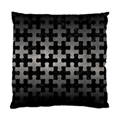Puzzle1 Black Marble & Gray Metal 1 Standard Cushion Case (two Sides) by trendistuff