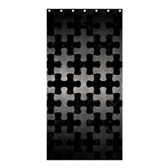Puzzle1 Black Marble & Gray Metal 1 Shower Curtain 36  X 72  (stall)  by trendistuff
