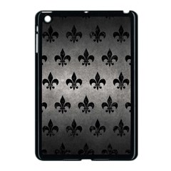 Royal1 Black Marble & Gray Metal 1 Apple Ipad Mini Case (black) by trendistuff