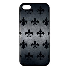 Royal1 Black Marble & Gray Metal 1 Apple Iphone 5 Premium Hardshell Case by trendistuff