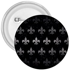 Royal1 Black Marble & Gray Metal 1 (r) 3  Buttons by trendistuff
