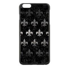 Royal1 Black Marble & Gray Metal 1 (r) Apple Iphone 6 Plus/6s Plus Black Enamel Case by trendistuff