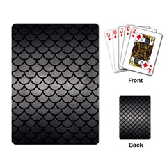 Scales1 Black Marble & Gray Metal 1 (r) Playing Card by trendistuff