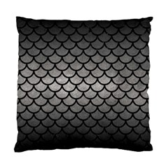 Scales1 Black Marble & Gray Metal 1 (r) Standard Cushion Case (one Side) by trendistuff