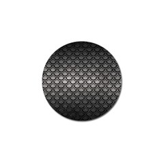 Scales2 Black Marble & Gray Metal 1 (r) Golf Ball Marker by trendistuff