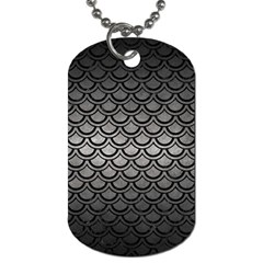 Scales2 Black Marble & Gray Metal 1 (r) Dog Tag (two Sides) by trendistuff