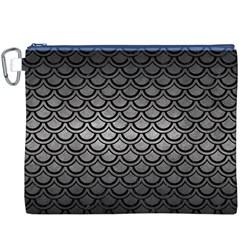 Scales2 Black Marble & Gray Metal 1 (r) Canvas Cosmetic Bag (xxxl) by trendistuff