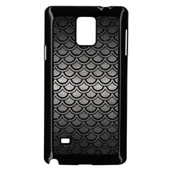 Scales2 Black Marble & Gray Metal 1 (r) Samsung Galaxy Note 4 Case (black) by trendistuff