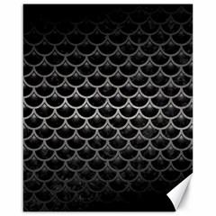 Scales3 Black Marble & Gray Metal 1 Canvas 16  X 20   by trendistuff