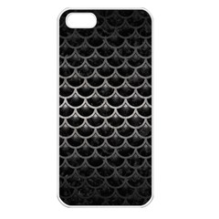 Scales3 Black Marble & Gray Metal 1 Apple Iphone 5 Seamless Case (white) by trendistuff