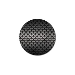 Scales3 Black Marble & Gray Metal 1 (r) Golf Ball Marker (4 Pack) by trendistuff