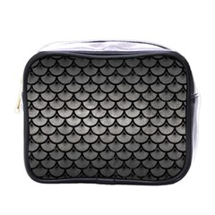 Scales3 Black Marble & Gray Metal 1 (r) Mini Toiletries Bags by trendistuff