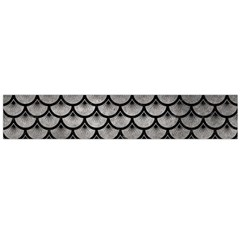 Scales3 Black Marble & Gray Metal 1 (r) Flano Scarf (large) by trendistuff