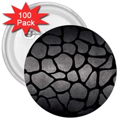 Skin1 Black Marble & Gray Metal 1 3  Buttons (100 Pack)  by trendistuff
