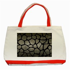 Skin1 Black Marble & Gray Metal 1 Classic Tote Bag (red) by trendistuff