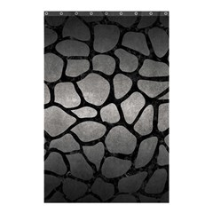 Skin1 Black Marble & Gray Metal 1 Shower Curtain 48  X 72  (small)  by trendistuff