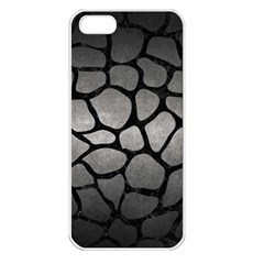 Skin1 Black Marble & Gray Metal 1 Apple Iphone 5 Seamless Case (white) by trendistuff