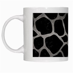 Skin1 Black Marble & Gray Metal 1 (r) White Mugs by trendistuff