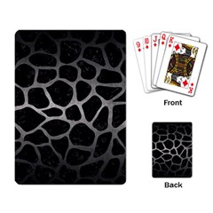 Skin1 Black Marble & Gray Metal 1 (r) Playing Card by trendistuff