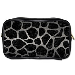 Skin1 Black Marble & Gray Metal 1 (r) Toiletries Bags 2 Side by trendistuff