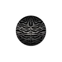 Skin2 Black Marble & Gray Metal 1 Golf Ball Marker by trendistuff