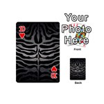 SKIN2 BLACK MARBLE & GRAY METAL 1 Playing Cards 54 (Mini)  Front - Heart10