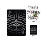 SKIN2 BLACK MARBLE & GRAY METAL 1 Playing Cards 54 (Mini)  Front - Spade6
