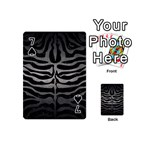 SKIN2 BLACK MARBLE & GRAY METAL 1 Playing Cards 54 (Mini)  Front - Spade7