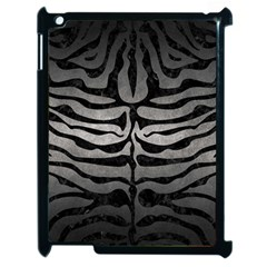 Skin2 Black Marble & Gray Metal 1 (r) Apple Ipad 2 Case (black) by trendistuff