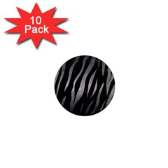 Skin3 Black Marble & Gray Metal 1 1  Mini Magnet (10 Pack)  by trendistuff