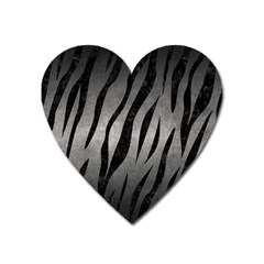 Skin3 Black Marble & Gray Metal 1 (r) Heart Magnet by trendistuff