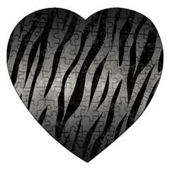 Skin3 Black Marble & Gray Metal 1 (r) Jigsaw Puzzle (heart) by trendistuff