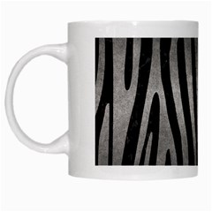 Skin4 Black Marble & Gray Metal 1 (r) White Mugs by trendistuff