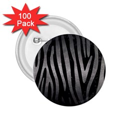 Skin4 Black Marble & Gray Metal 1 (r) 2 25  Buttons (100 Pack)  by trendistuff