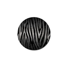 Skin4 Black Marble & Gray Metal 1 (r) Golf Ball Marker by trendistuff
