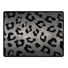 Skin5 Black Marble & Gray Metal 1 Fleece Blanket (small) by trendistuff