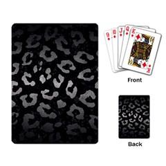 Skin5 Black Marble & Gray Metal 1 (r) Playing Card by trendistuff