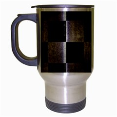 Square1 Black Marble & Gray Metal 1 Travel Mug (silver Gray) by trendistuff