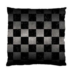 Square1 Black Marble & Gray Metal 1 Standard Cushion Case (two Sides) by trendistuff