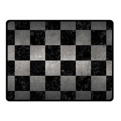 Square1 Black Marble & Gray Metal 1 Fleece Blanket (small) by trendistuff