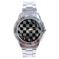 Square1 Black Marble & Gray Metal 1 Stainless Steel Analogue Watch by trendistuff
